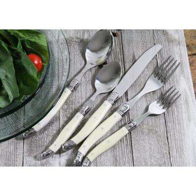 Laguiole 20-Piece Stainless Steel/Faux Ivory Flatware Set (Service for 4)