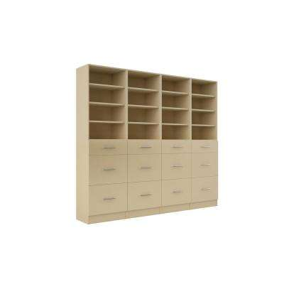 Calabria General Storage 15 in. D x 96 in. W x 84 in. H Almond Wood Closet System