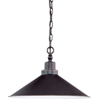 1-Light Mission Dust Bronze Pendant with Metal Shade
