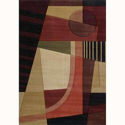 Urban Angles Green 7 ft. 10 in. x 10 ft. 6 in. Contemporary Area Rug