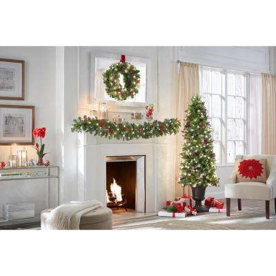 6 ft. Pre-Lit Winslow Fir Potted Artificial Christmas Tree with 612 Tips and 200 Clear Lights