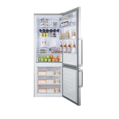 27 in. 16.8 cu. ft. Bottom Freezer Refrigerator in Stainless Steel, Counter Depth