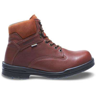 """Men's Durashocks SR Brown Full- Grain Leather 6"" Boot"""