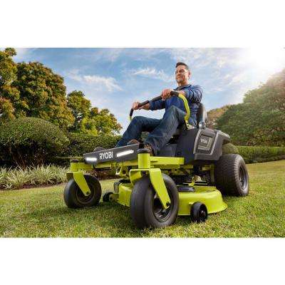 42 in. 75-Amp Battery Electric Riding Zero Turn Mower and Bagging Kit