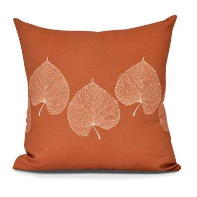 16 in. leaf Print 2, Floral Print, Decorative Pillow