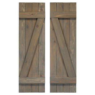 Board and Batten Z Shutters Pair