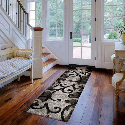 Spirit Black 2 ft. x 7 ft. Runner Rug