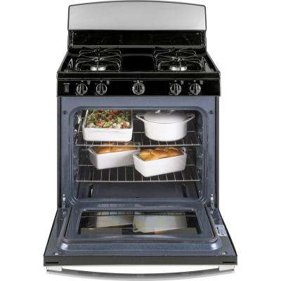 4.8 cu. ft. Gas Range with Standard Cleaning Oven in Stainless Steel