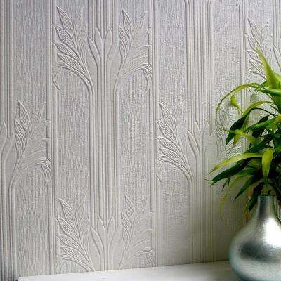 57.5 sq. ft. Wildacre Paintable Textured Vinyl Wallpaper