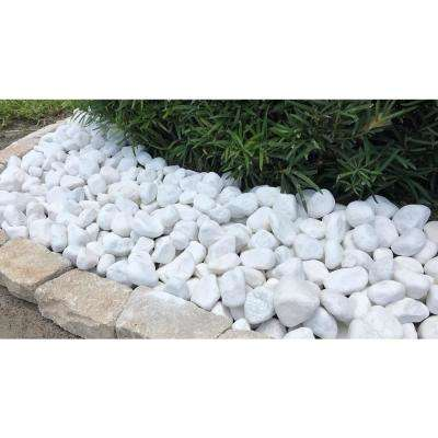 0.4 cu. ft., 2 in. to 3 in. Snow White Pebble (30-Pack Pallet)