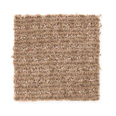 Carpet Sample - New Start II - Color Fresh Earth Pattern 8 in. x 8 in.