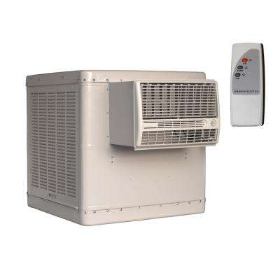 5000 CFM 2-Speed Window Evaporative Cooler for 1600 sq. ft. (with Motor and Remote Control)