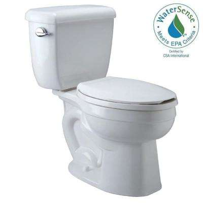 High Performance 2-piece 1.6 GPF Single Flush Elongated Toilet in White