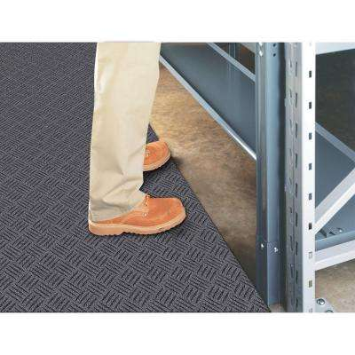 Black 36 in. x 48 in. Rubber Deck Plate Mat