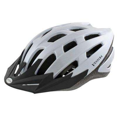 Carbon Sport Large Bicycle Helmet in White