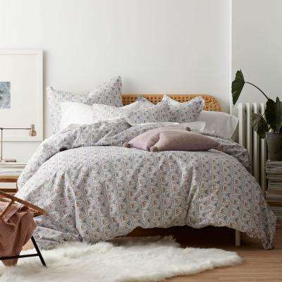 Zahra Organic Cotton Percale Duvet Cover Set