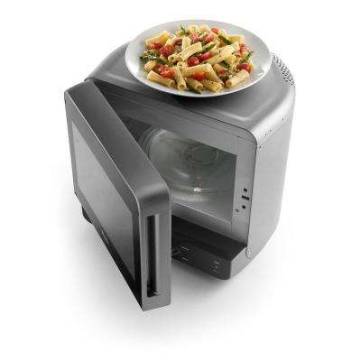 0.5 cu. ft. Countertop Microwave in Universal Silver