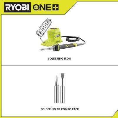 18-Volt ONE+ 40-Watt Soldering Iron (Tool-Only) with extra Fine Point and Chisel Point Soldering Tips