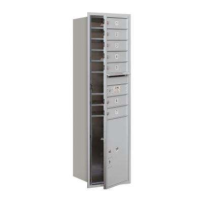 55 in. 15 Door High Unit Aluminum Private Front Loading 4C Horizontal Mailbox with 7 MB1 Doors/1 PL6