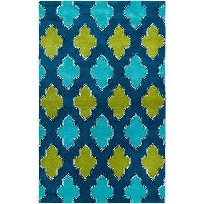 Fusion Collection Multi Color 5 ft. x 8 ft. Print Area Rug