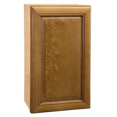 15x36x12 in. Lewiston Assembled Wall Single Door Cabinet in Toffee Glaze