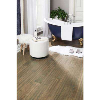 Take Home Sample - Tanned Leather Engineered Waterproof Hardwood Flooring - 5 in. Width x 6 in. Length