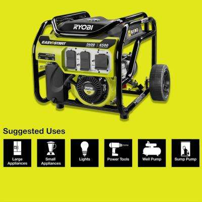 3,600 Running Watt 212cc Gasoline Powered Portable Generator