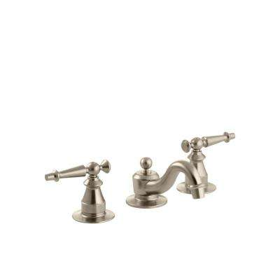 Antique 8 in. Widespread 2-Handle Low-Arc Bathroom Faucet in Brushed Bronze-DISCONTINUED