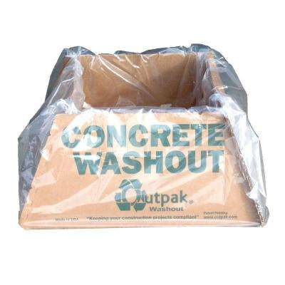 Washout 30 in. x 30 in. x14 in. 350# Kraft with 6 mil Bag Liner