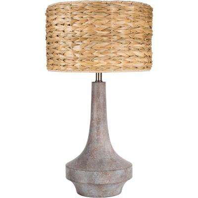 Archibald 26 in. Antiqued Gray Indoor Table Lamp