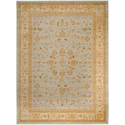 Austin Light Grey/Gold 9 ft. 6 in. x 13 ft. Area Rug