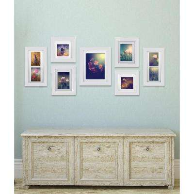 7-Opening Matted Picture Frame