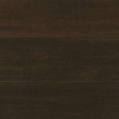 Handscraped Wirebrushed Strand Woven Chai 3/8 in. T. x 5-1/8 in. W. x 72 in. L. Click Bamboo Flooring (25.75sq.ft./case)