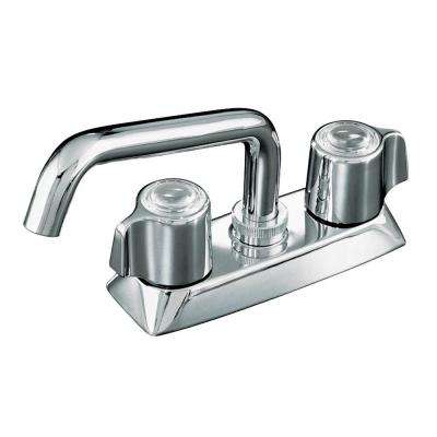 Coralais 2-Handle Utility Sink Faucet in Polished Chrome