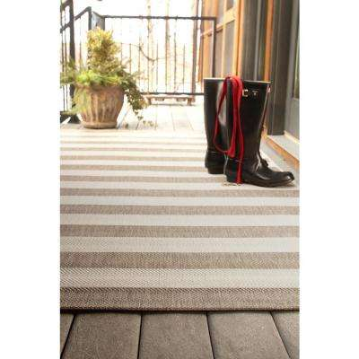 Elsinore Stripe Wheat 8 ft. x 11 ft. Area Rug