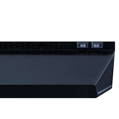 18 in. Non-Vented Under Cabinet Range Hood in Black