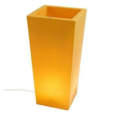 Twist Production 32 in. Yellow Outdoor Lighted Planter