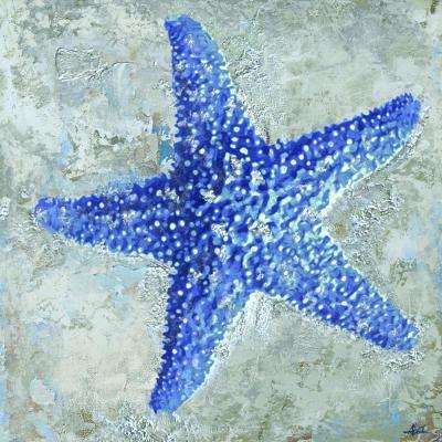 "31.5 in. H x 31.5 in. W ""Starfish I"" Artwork in Cotton Canvas Wall Art"