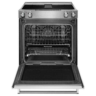 6.4 cu. ft. Downdraft Slide-In Electric Range with Self-Cleaning Convection Oven in Stainless Steel