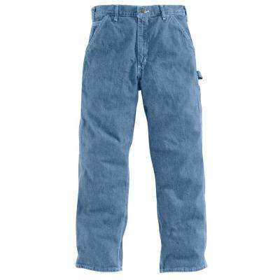 Men's Stonewash Cotton Straight Leg Denim Bottoms