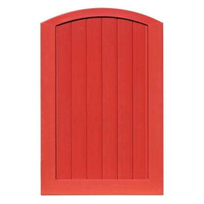 Pro Series 4 ft. W x 6 ft. H Barn Red Vinyl Anaheim Privacy Arched Top Fence Gate