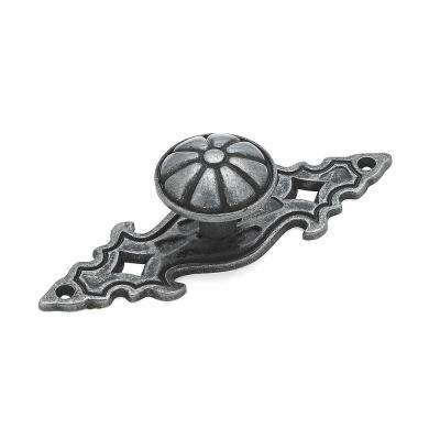 1 in. Wrought Iron Backplate Knob