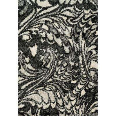 Cosma Lifestyle Collection Charcoal/Ivory 7 ft. 7 in. x 10 ft. 5 in. Area Rug