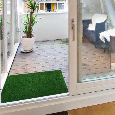 Garden Grass Collection 2 ft. x 3 ft. Artificial Grass Synthetic Lawn Turf Indoor/Outdoor Doormat