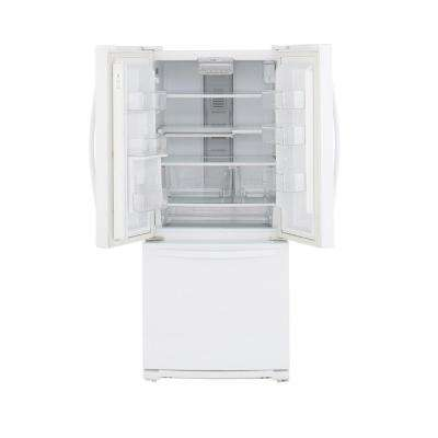30 in. W 19.7 cu. ft. French Door Refrigerator in White