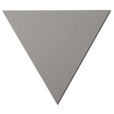 24 in. x 24 in. x 24 in. Grey Triangle Acoustic Sound Absorbing Wall Panels (2-Pack)