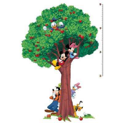 3.5 in. x 27 in. Mickey and Friends 25-Piece Peel and Stick Growth Chart