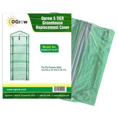 19.3 in. W x 27.2 in. D x 78.7 in. H 5 - Tier Greenhouse PE Replacement Cover
