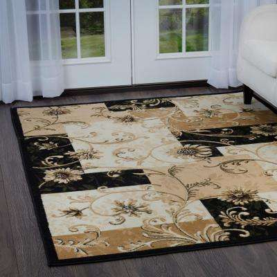 Optimum Black 8 ft. x 10 ft. Indoor Area Rug