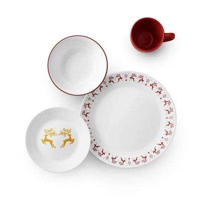 Classic 16-Piece Dancer & Prancer Dinnerware Set